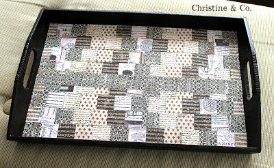 Tray Makeover with Paper and Mod Podge
