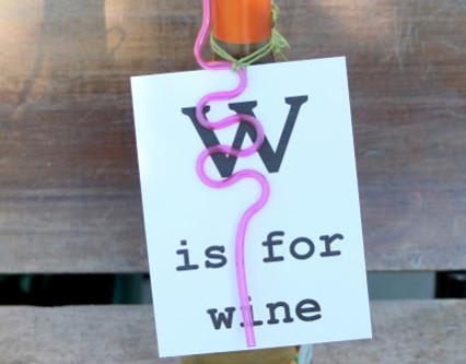Wine Bottle Flash Card For Teacher Gift
