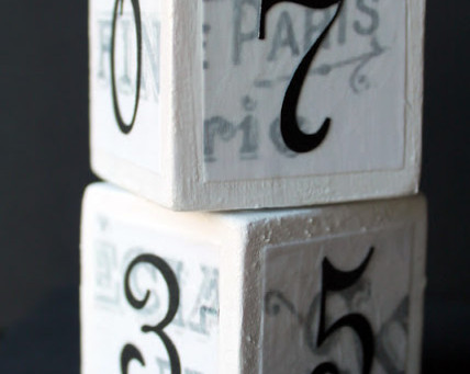 French Label Calendar Block Set
