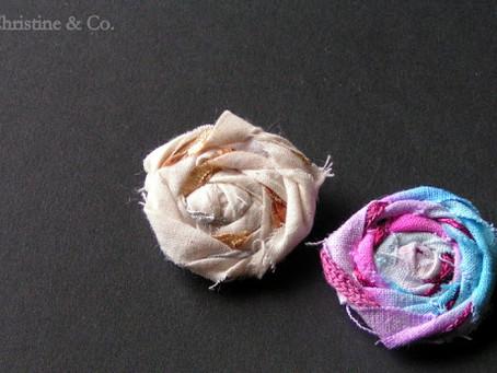 Muslin and Fiber Flowers {A Tutorial}