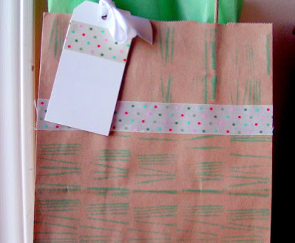 Make your own stamp from twine and a block