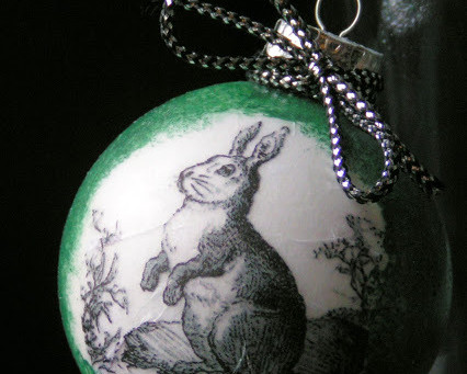 Bunny Ornament with The Graphics Fairy