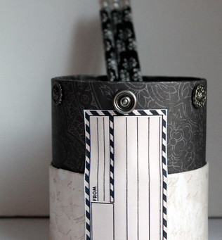 Upcycled Canister with The Graphics Fairy