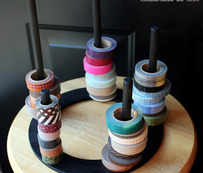 DIY Washi Tape Corral