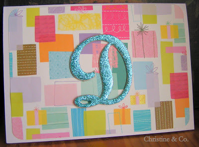 Monogrammed Birthday Card