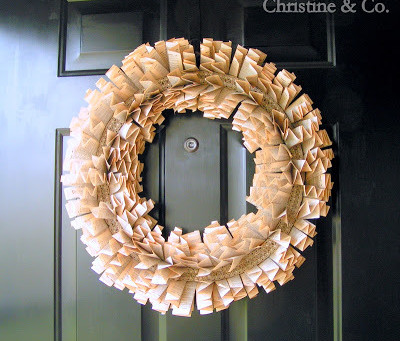 Wreath from Dictionary pages. And patience.