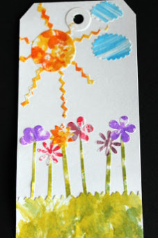 Tag with Alcohol Inks {Eric Carle Inspired}