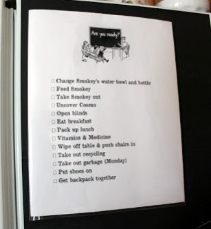School Morning Focus Dry Erase List