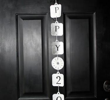 Happy 2012! {Front Door Decor}