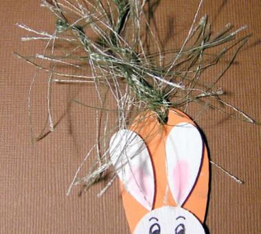 Wooden shape bunny pin