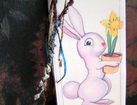 Cute bunny bookmark