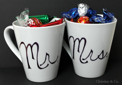 Mr. and Mrs. Coffee Mugs with Permanent Marker