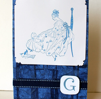 """Baby Boy Card for Sweet Baby """"G"""""""