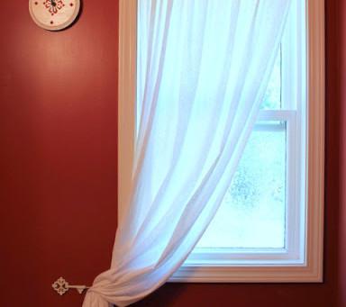 My Bathroom Curtain Re-Do
