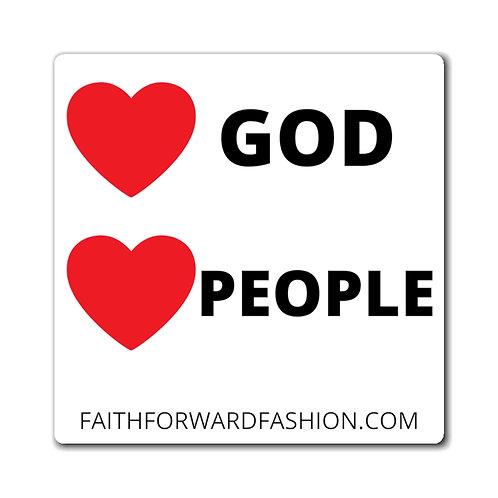Love God Love People Magnet - Great for Vehicles!