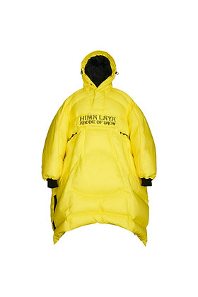 LEMON MIX BLACK EGG DOWN CLOAK
