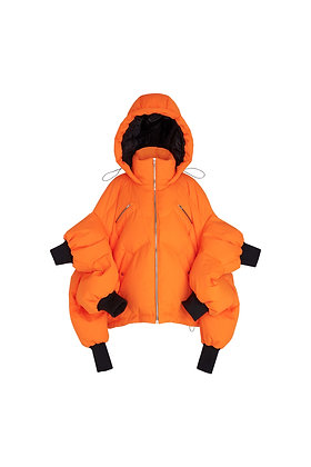 ORANGE KING CRAB DOWN JACKET