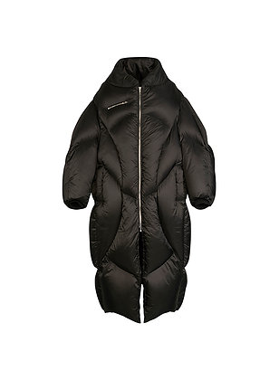 BLACK LONG DOWN JACKET