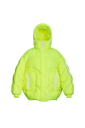 FLUORESCENT GREEN DOWN JACKET