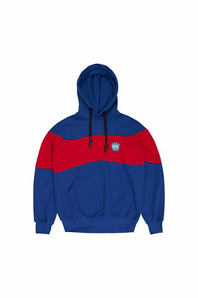 H-RED MIX SAPPHIRE LITTLE MONSTER CONTRASTER HOODIE