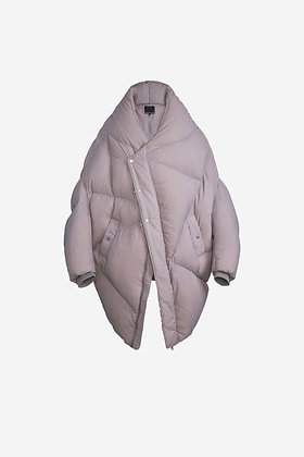 STONE COLOUR SHELL PUFFER JACKET - CP16005