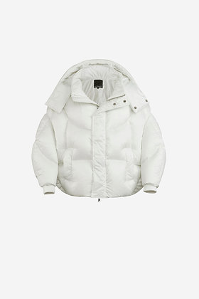WHITE SHELL PUFFER JACKET -CP16002028