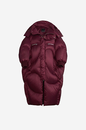 BURGUNDY DOWN COAT - CP16004008