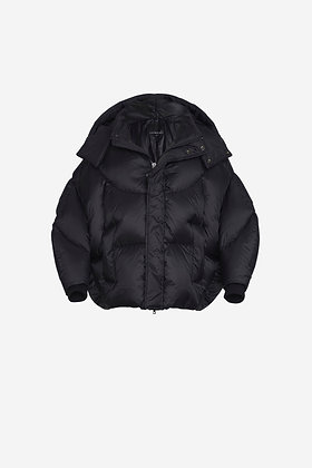 BLACK SHELL PUFFER JACKET - CP16002027