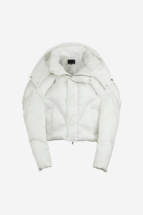 WHITE PUFFER JACKET - CP16001028