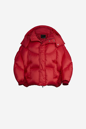 RED SHELL PUFFER JACKET - CP16002025