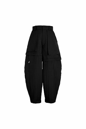 BLACK TECHNICAL QUILTING BLOOMERS