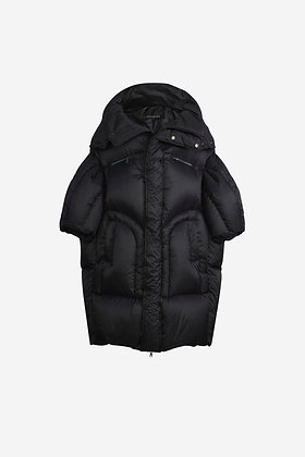 BLACK QUILTED PUFFER JACKET - CP16007027