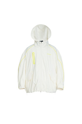 PU WHITE QUILTED JACKET