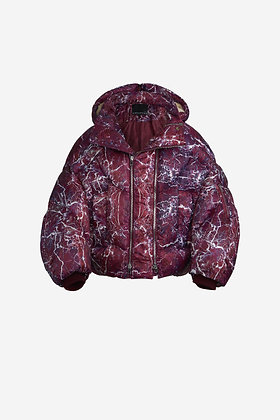 RED MARBLE DOWN JACKET - CP17004004