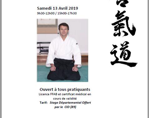 Stage Icaunais à Auxerre le 13 avril