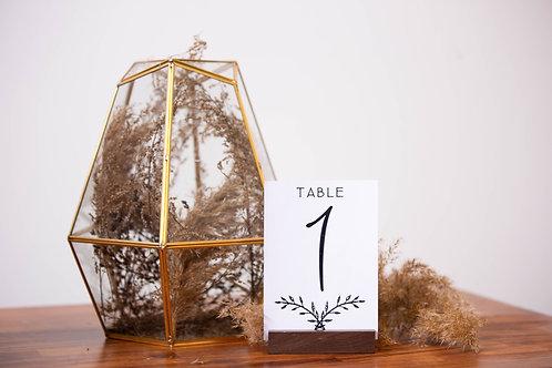 Printed Table Numbers
