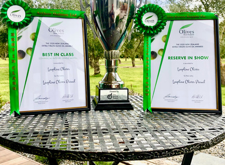 Best in Reserve, Best in Class and two Gold Medals at the 2020 New Zealand Olive Oil Awards