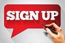 SIGN UP message bubble, business concept