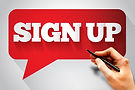 SIGN UP message bubble, business concept