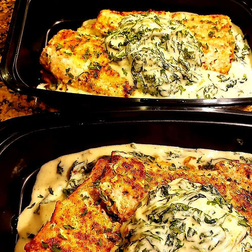 Carb Conscious Salmon & Creamed Spinach