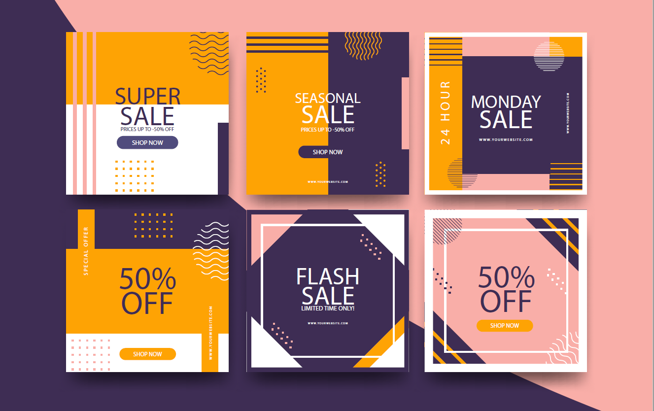 Square logos work as coupon and product tags!