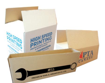 Square and Rectangular Boxes. Custom Printed Logos