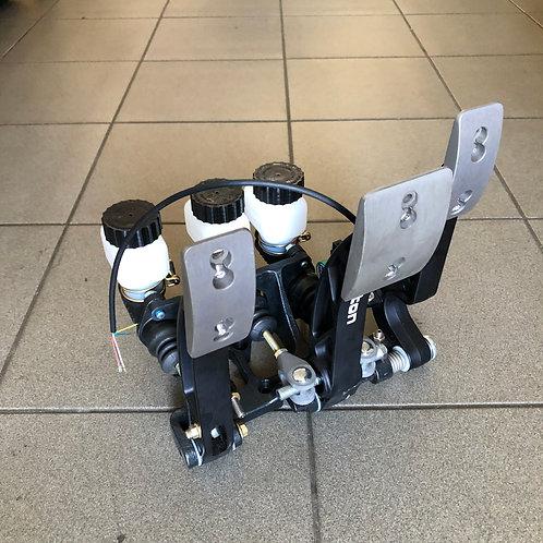 Hydraulic brake, handbrake, clutch and gas