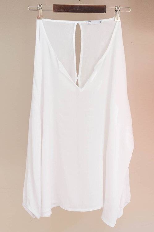 Camiseta de manga larga vaporosa con espalda abierta de Fete