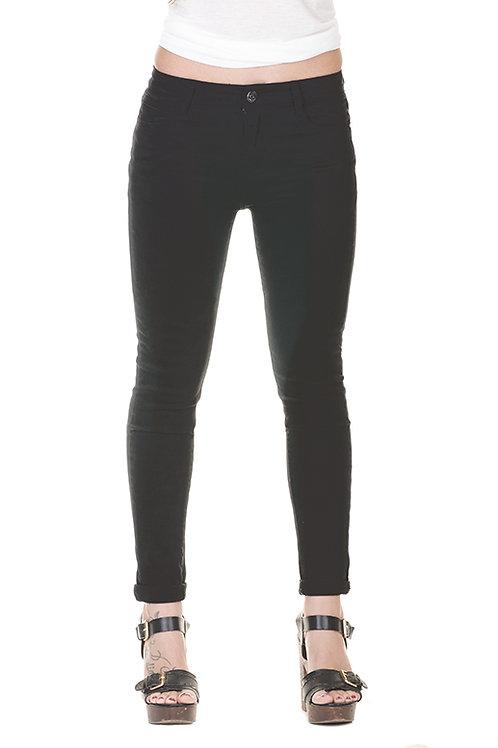 Pantalon denim slim fit negro