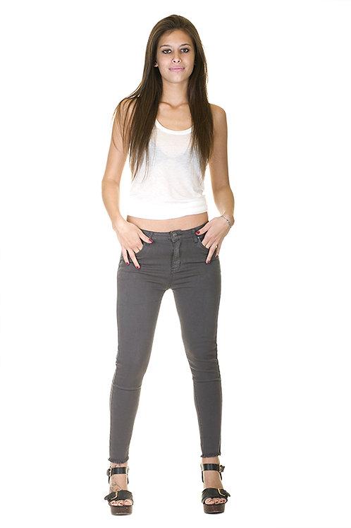 Pantalon denim slim fit gris