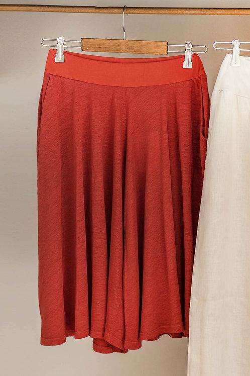 Pantalón falda de lino de Fete.