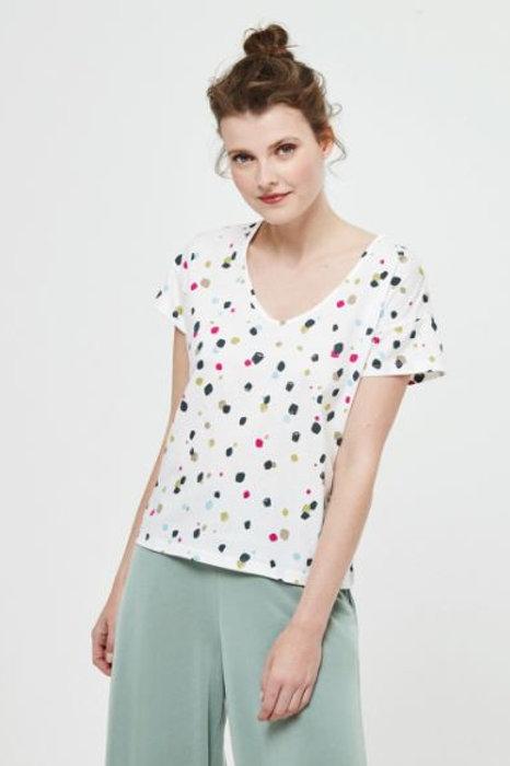 Camiseta de manga corta de topos Surkana.
