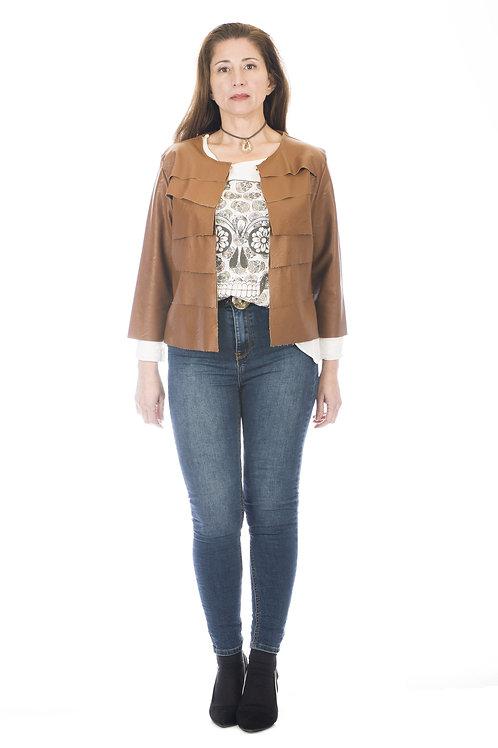 Jacket minimalista de corte recto