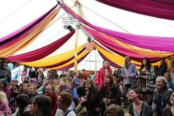 festival crowds.